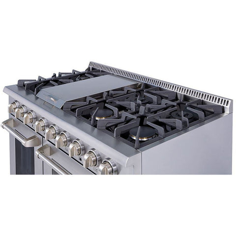 "Image of Thor Kitchen 48"" 6.7 cu. ft. Professional Gas Range in Stainless Steel (HRG4808U) - Shop For Kitchens"