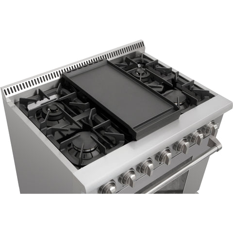 Image of Thor Kitchen Cast Iron Double Burner Griddle Plate (RG1032) - Shop For Kitchens