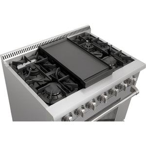 Thor Kitchen Cast Iron Double Burner Griddle Plate (RG1032) - Shop For Kitchens