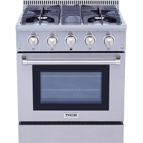 "THOR Professional 30"" Dual Fuel Range in Stainless Steel (HRD3088U) - Shop For Kitchens"