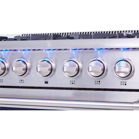 "Image of THOR Professional 36"" Dual Fuel Range in Stainless Steel (HRD3606U) - Shop For Kitchens"