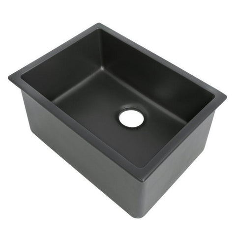 ZLINE 24 inch Rome Dual Mount Fireclay Sink in Charcoal (FRC5123-CL-24) - Shop For Kitchens