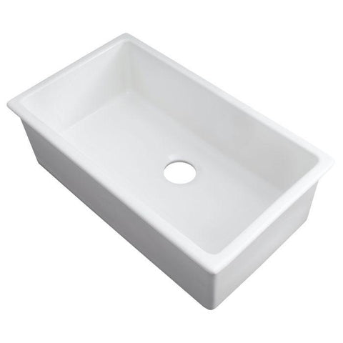 Image of ZLINE 30 inch Rome Dual Mount Fireclay Sink in White Gloss (FRC5124-WH-30) - Shop For Kitchens