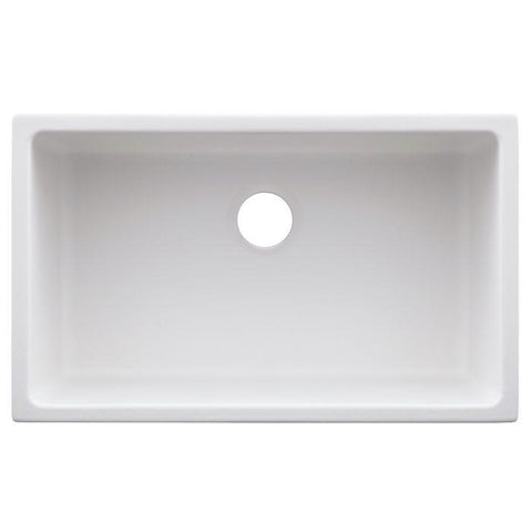 Image of ZLINE 30 inch Rome Dual Mount Fireclay Sink in White Matte (FRC5124-WM-30) - Shop For Kitchens