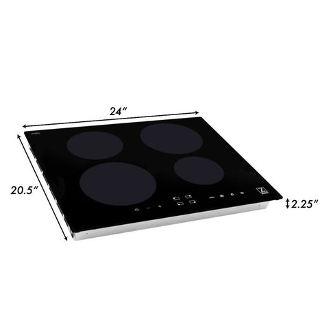 ZLINE 24 in. Induction Cooktop with 4 burners (RCIND-24) - Shop For Kitchens