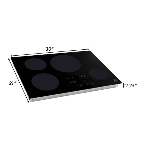 ZLINE 30 in. Induction Cooktop with 4 burners (RCIND-30) - Shop For Kitchens