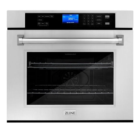 ZLINE 30 In. Professional Single Wall Oven in Stainless Steel (AWS-30) - Shop For Kitchens