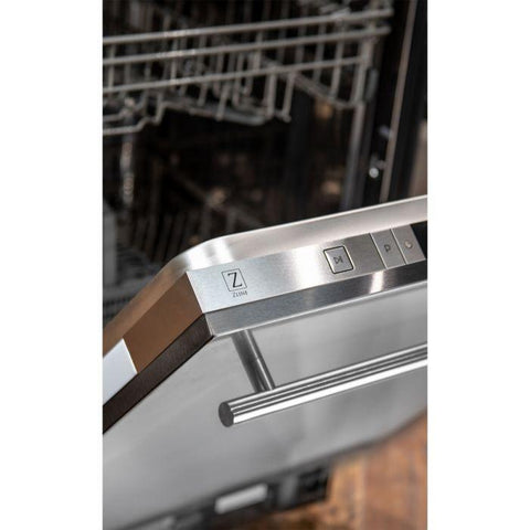 ZLINE 24 inch Top Control Dishwasher in Stainless Steel with Modern Style Handle (DW-304-24) - Shop For Kitchens