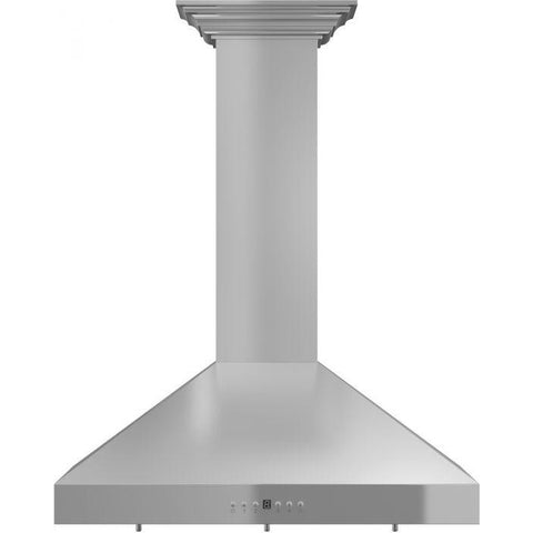 "Image of ZLINE 30"" Stainless Steel Wall Range Hood with Crown Molding (KL3CRN-30) - Shop For Kitchens"
