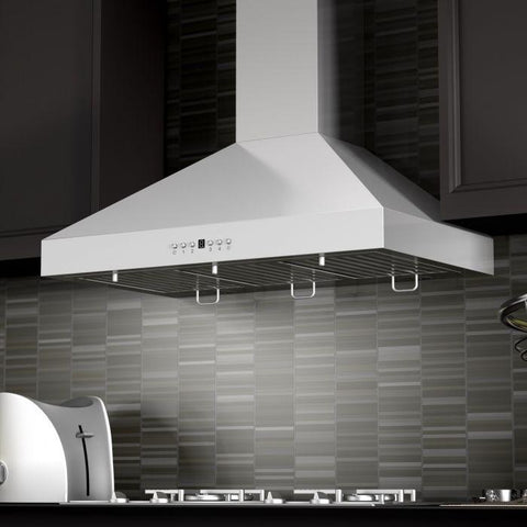 "ZLINE 42"" Stainless Steel Wall Range Hood with Crown Molding (KL3CRN-42) - Shop For Kitchens"