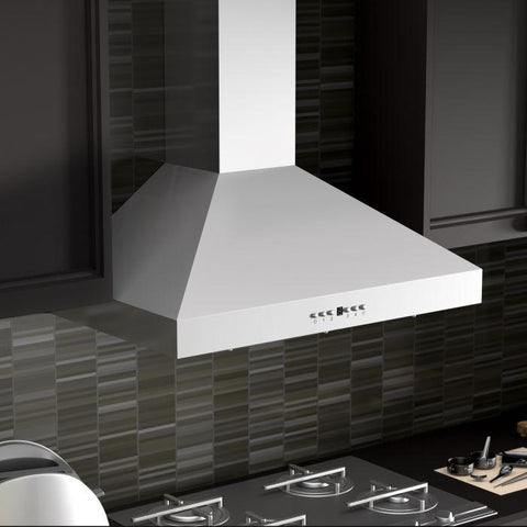 "ZLINE 48"" Stainless Steel Wall Range Hood with Crown Molding (KL3CRN-48) - Shop For Kitchens"