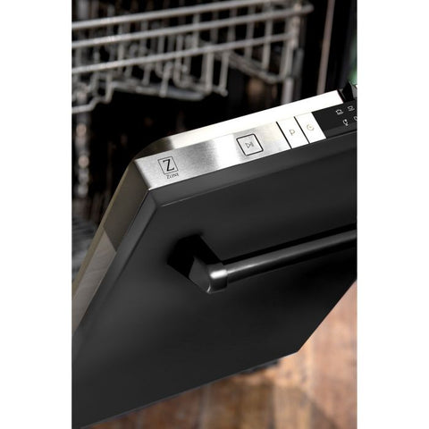 ZLINE 24 In. Top Control Dishwasher In Black Stainless Steel With Stainless Steel Tub (DW-BS-24) - Shop For Kitchens