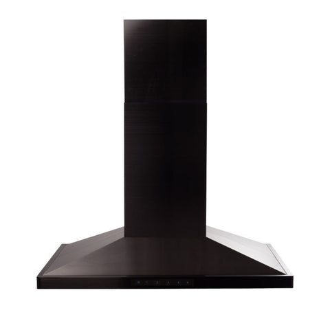 "ZLINE 30"" Island Range Hood in Black Stainless Steel (BSGL2iN-30) - Shop For Kitchens"