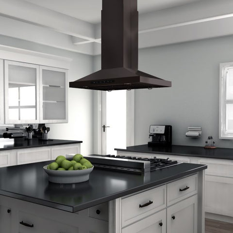 "ZLINE 30"" Island Range Hood in Black Stainless Steel (BSGL2iN-30)"
