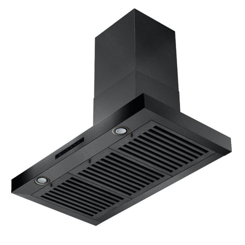 ZLINE 36 inch 400 CFM Wall Mount Range Hood in Black Stainless Steel (BSKEN-36) - Shop For Kitchens