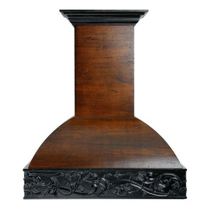 ZLINE 42 in. Wooden Wall Mount Range Hood in Antigua and Walnut - Includes 1200 CFM Remote Motor - Shop For Kitchens
