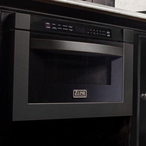 "Image of ZLINE 24"" 1.2 cu. ft. Microwave Drawer in Black Stainless Steel (MWD-1-BS) - Shop For Kitchens"