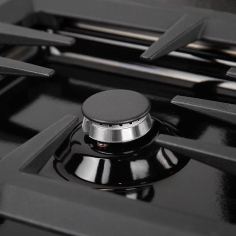 "ZLINE Professional 30"" Black Porcelain Dropin Cooktop with 4 gas burners (RC30-PBT) - Shop For Kitchens"