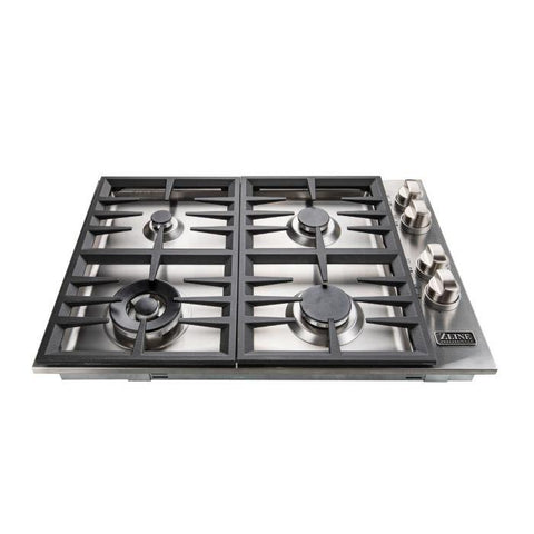"ZLINE Professional 30"" Dropin Cooktop with 4 gas burners (RC-30) - Shop For Kitchens"