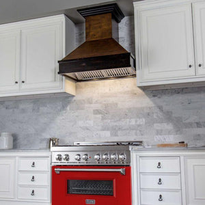 "ZLINE Professional 36"" Dual Fuel Range with Red Matte Door (RA-RM-36) - Shop For Kitchens"