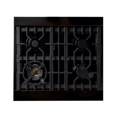ZLINE Professional 30 inch Gas Range with Gas Convection Oven in Black Stainless Steel (RGB-30) - Shop For Kitchens