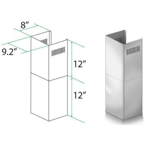 Image of ZLINE Short Kit for 7 ft. to 8 ft. Ceilings (SK-KB/KL2/KL3) - Shop For Kitchens