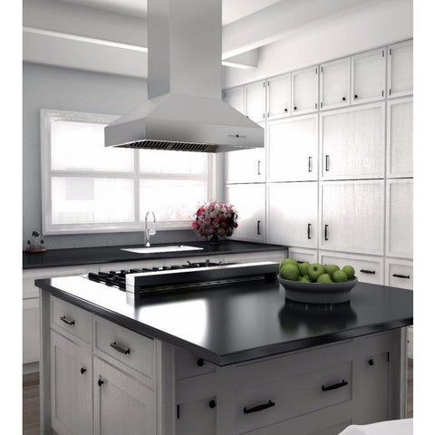 Image of ZLINE 48 in. 1200 CFM Outdoor Island Mount Range Hood in Stainless Steel (697i-304-48) - Shop For Kitchens
