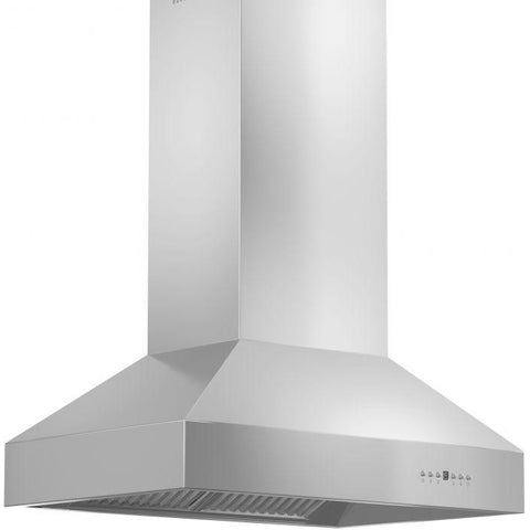 Image of ZLINE 42 in. 400 CFM Remote Blower Island Mount Range Hood in Stainless Steel (697i-RS-42-400) - Shop For Kitchens