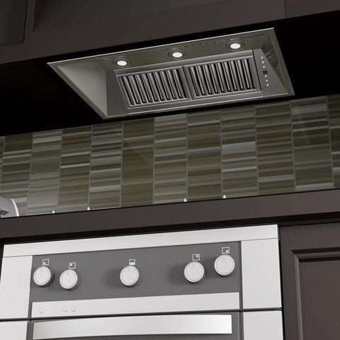 Image of ZLINE 34 in. 1200 CFM Outdoor Range Hood Insert in Stainless Steel (721-304-34) - Shop For Kitchens