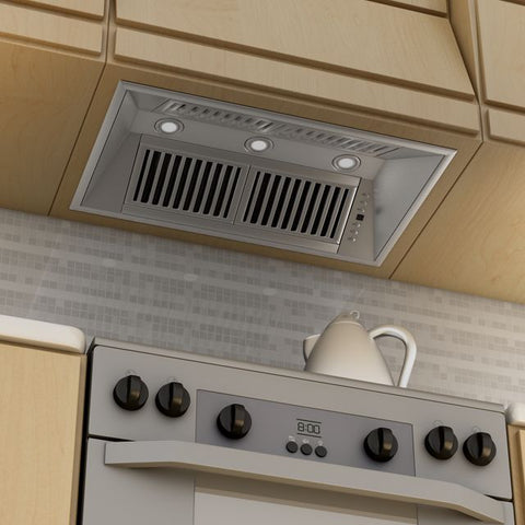 Image of ZLINE 40 in. 1200 CFM Remote Blower Range Hood Insert in Stainless Steel (721-RD-40) - Shop For Kitchens