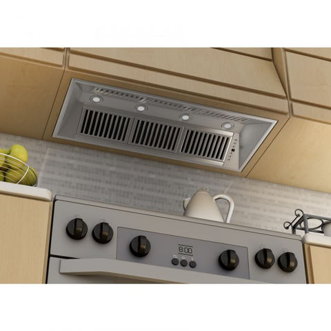 Image of ZLINE 46 in. 400 CFM Remote Blower Range Hood Insert in Stainless Steel (721-RS-46-400) - Shop For Kitchens