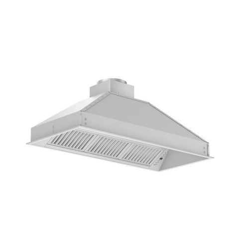 ZLINE 46 in. 400 CFM Remote Blower Range Hood Insert in Stainless Steel (721-RS-46-400) - Shop For Kitchens
