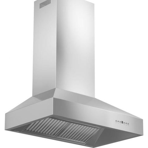 ZLINE 36 in. 1200 CFM Wall Mount Range Hood in Stainless Steel (667-36) - Shop For Kitchens