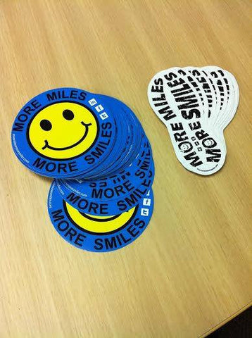 More Miles More Smiles Car Stickers