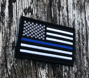 Blue Line Embroidered Patch