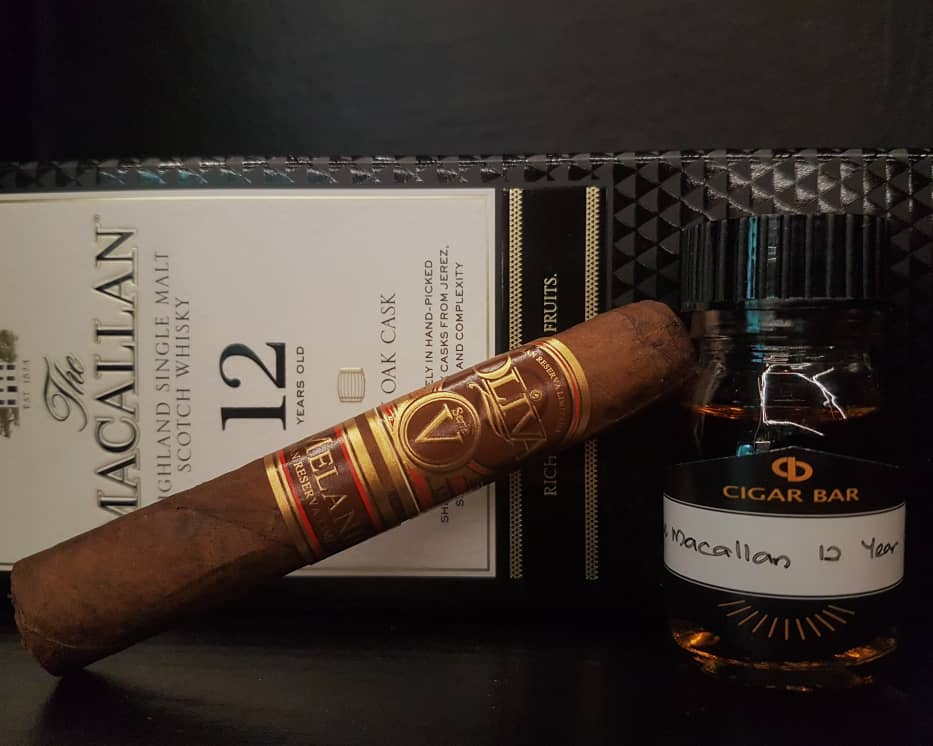 Oliva Serie V Melanio #4 & The Macallan 12 Year Old