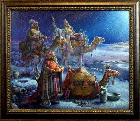Tom Dubois And The Wise Men Came Bearing Gifts- Framed