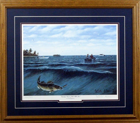 Les Kouba Opening Day on Mille Lacs-Framed