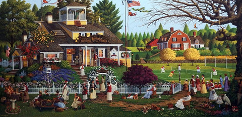 Charles Wysocki Love-Stretched Canvas