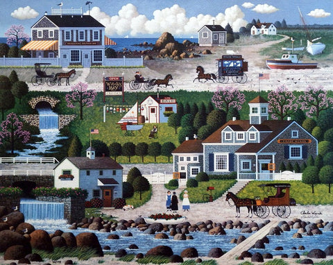 Charles Wysocki Crickethawk Harbor Stretched Canvas