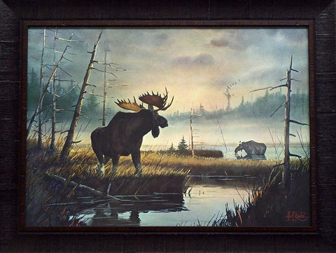 Kouba Moose Country-Textured-Framed