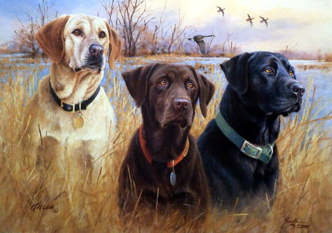 James Killen Great Hunting Dogs IV Labrador Retrievers SN AP 25.5 x 17.5