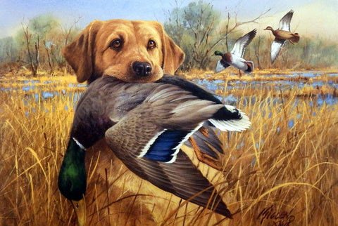 James Killen Great Retrievers-Yellow Labrador-Mallards