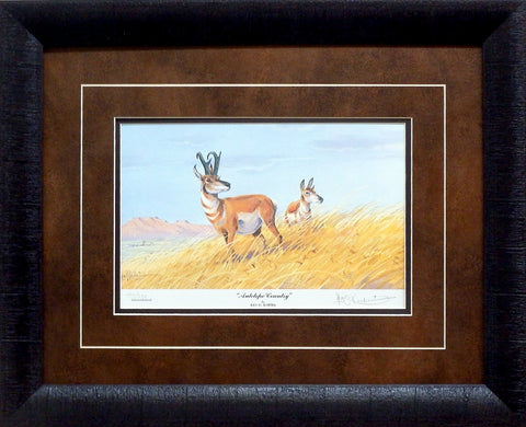 Les Kouba Antelope Country-Framed