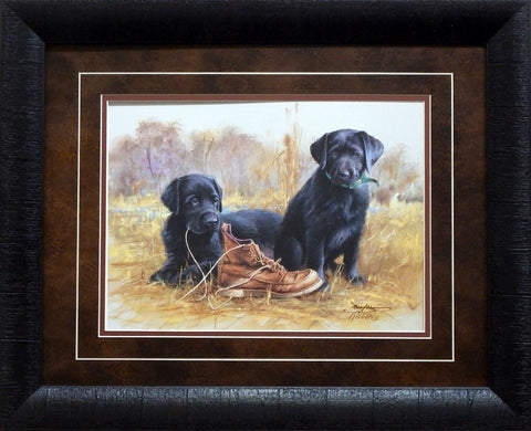 Jim Killen That's my Puppy-Black Lab-Signed Print-Framed