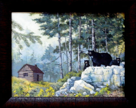 Anita Phillips Bear Cabin-Framed