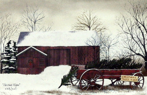 Billy Jacobs Christmas Wagon Christmas Tree Print