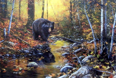 Jim Hansel Last Days of Autumn S/N Artist Proof Bear Print