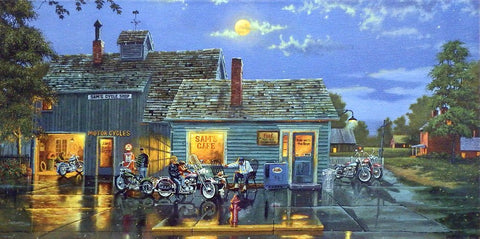 Dave Barnhouse Sams Cafe Canvas