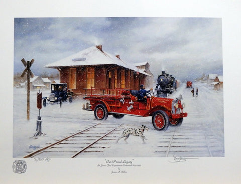 "James Killen ""Our Proud Legacy"" St.James Fire Dept Open Edition Print 18 x 12"